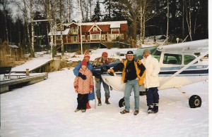 Besöker brorsan på Värmdö 2003